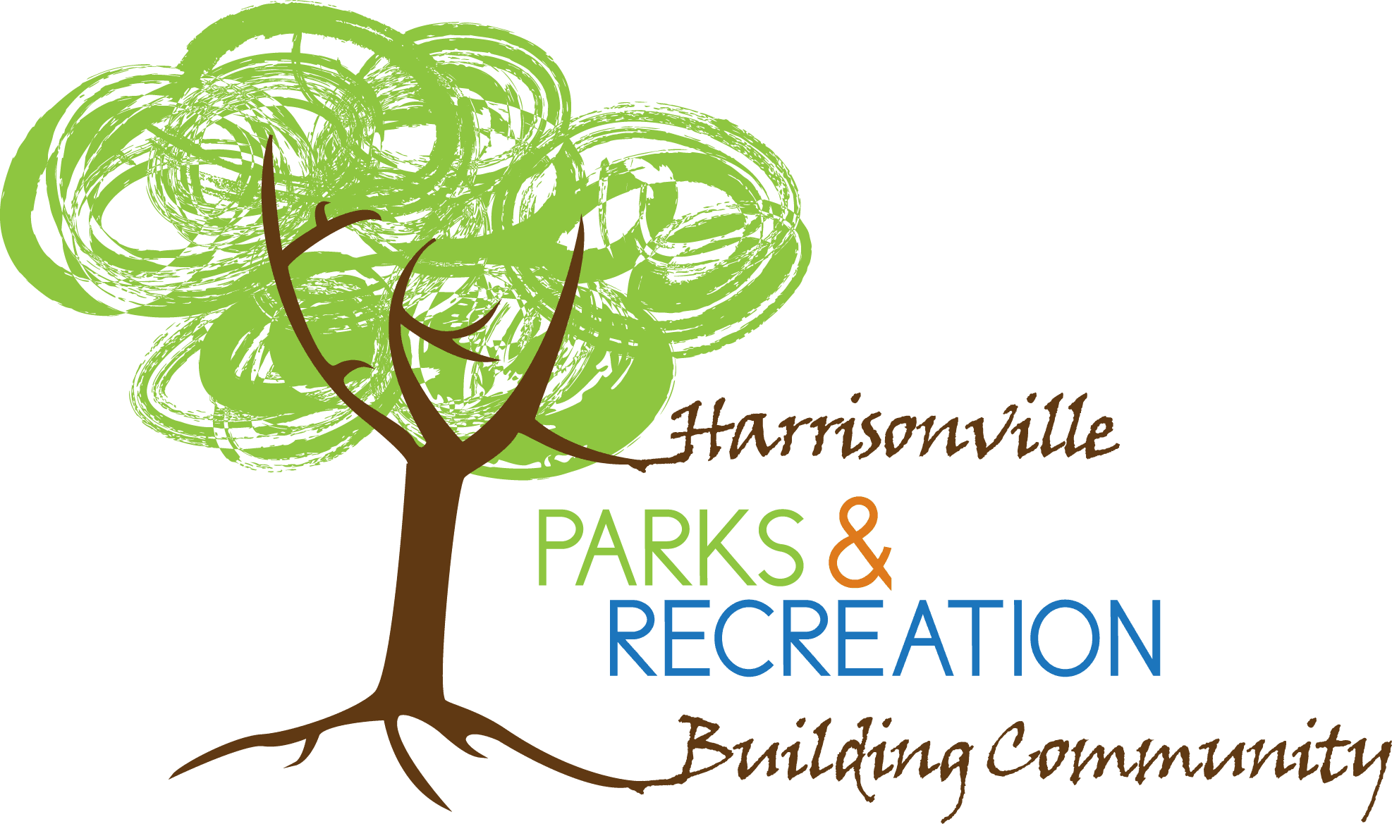 Harrisonville Parks and Recreation Logo