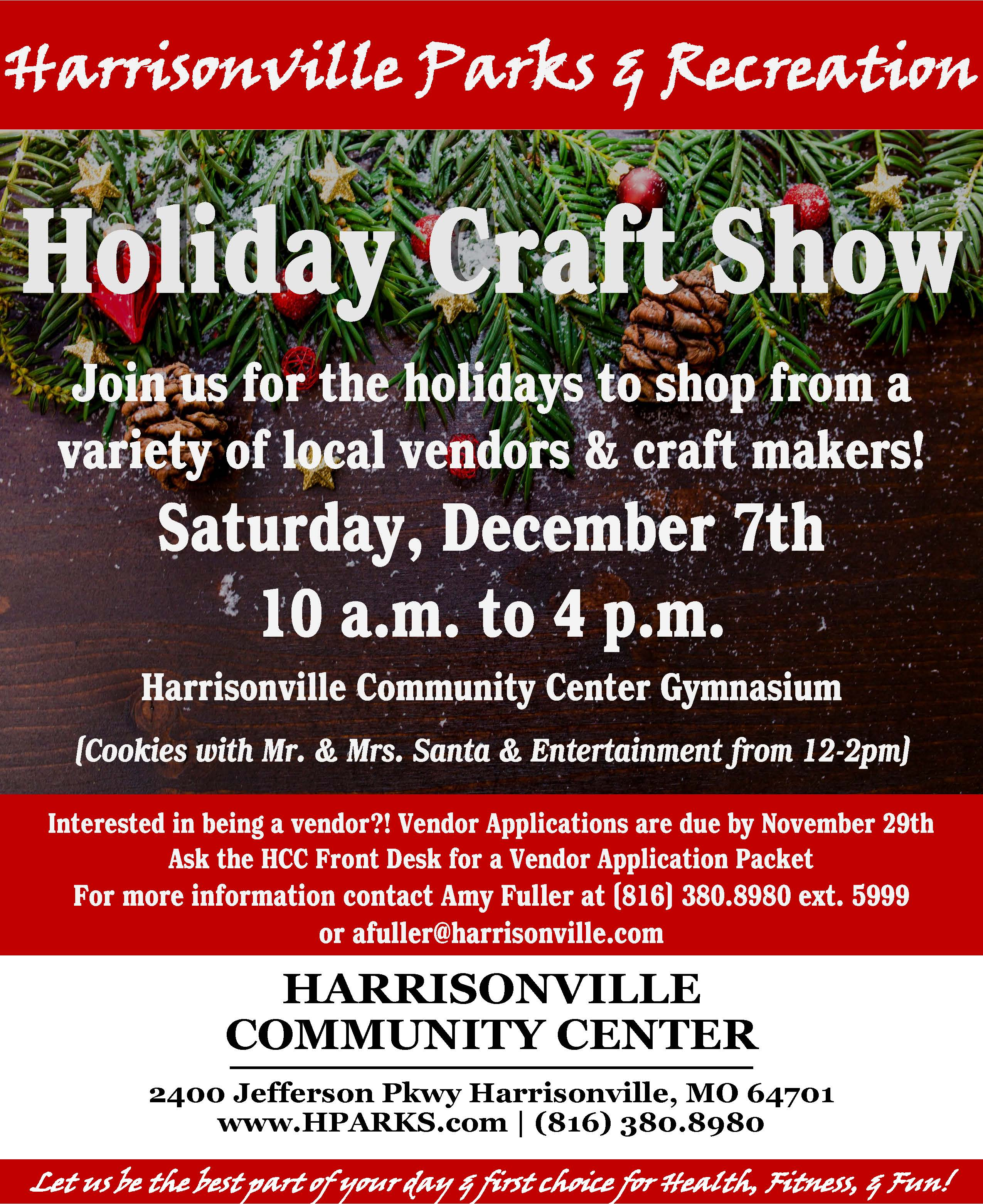 Holiday Craft Show Vendors Needed Flyer 2019