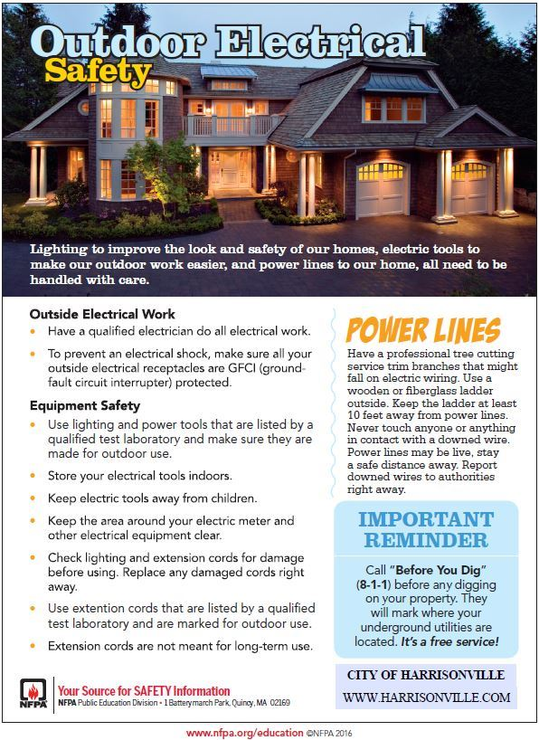 Outdoor Electrical Safety flyer