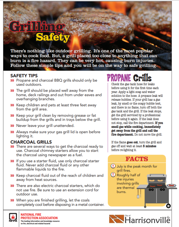 Grilling safety flyer Opens in new window