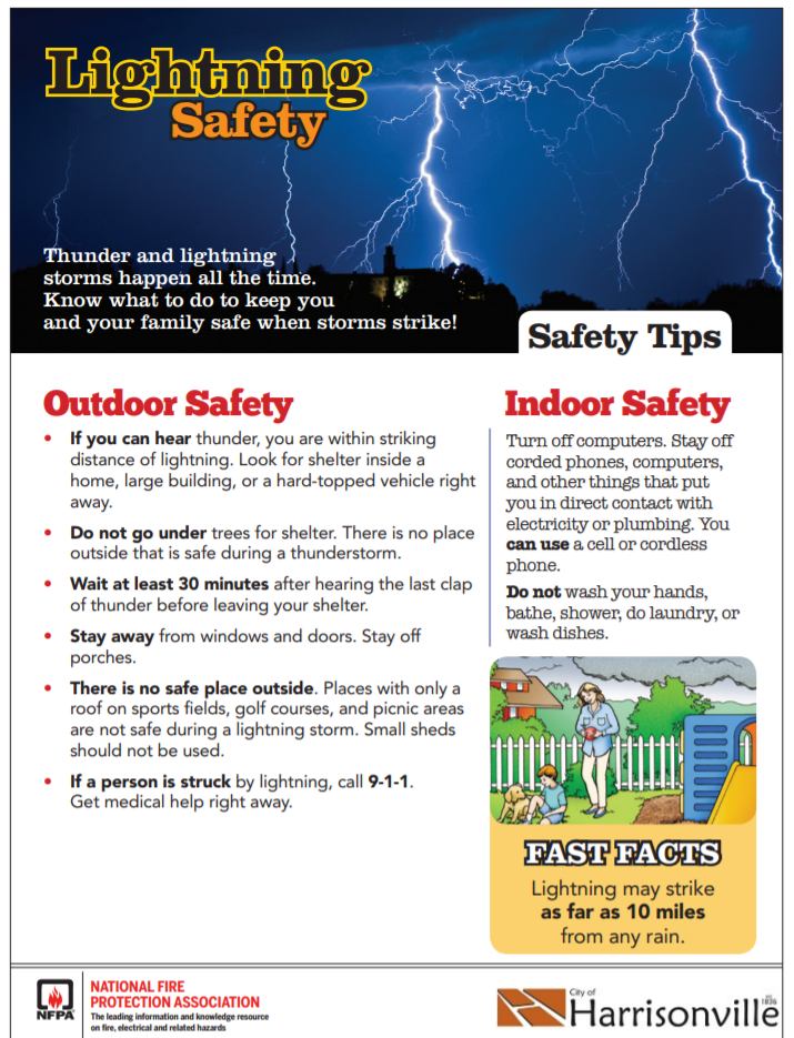 Lightning Safety flyer Opens in new window